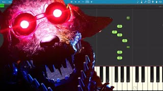 Joy of Creation Story Mode Song - Don't Let Them See You - TryHardNinja - Piano Cover / Tutorial