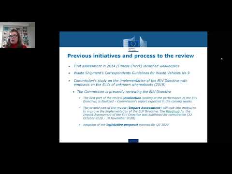 Artemis Hatzi-Hull  'The Review Of The ELV Directive - A New Approach' Jan 2021