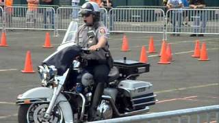 Crazy Motorcycle Skills at Police Motorcycle Rodeo