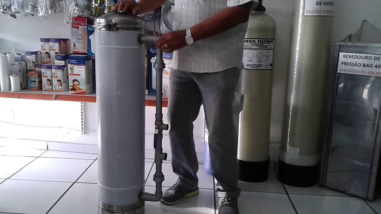 Filtro de gua industrial demonstrativo instala o youtube - Filtros para grifos de agua ...