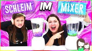 Ohje! Wir machen SCHLEIM im MIXER 🙈 Kann das gut gehen? Making slime in a mixer!! Alles Ava