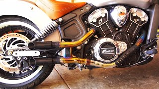 shorty gp style slip on exhaust indian scout project episode 11