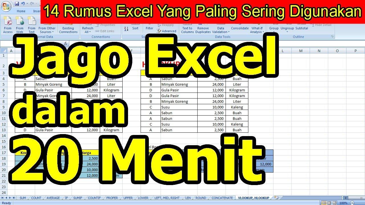 14 Rumus Excel Yang Paling Sering Digunakan - YouTube