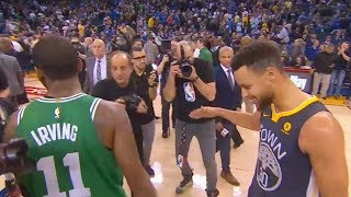 Kyrie Irving Leaves Stephen Curry Hanging During Handshake & Stephen Curry Tries to Play it Off!