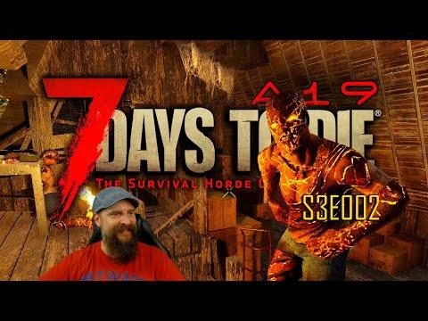 7 DAYS TO DIE | Alpha 19 🌑 S3E002: Die Nacht bricht herein - Loot im Fackelschein 🌑 gameplay german