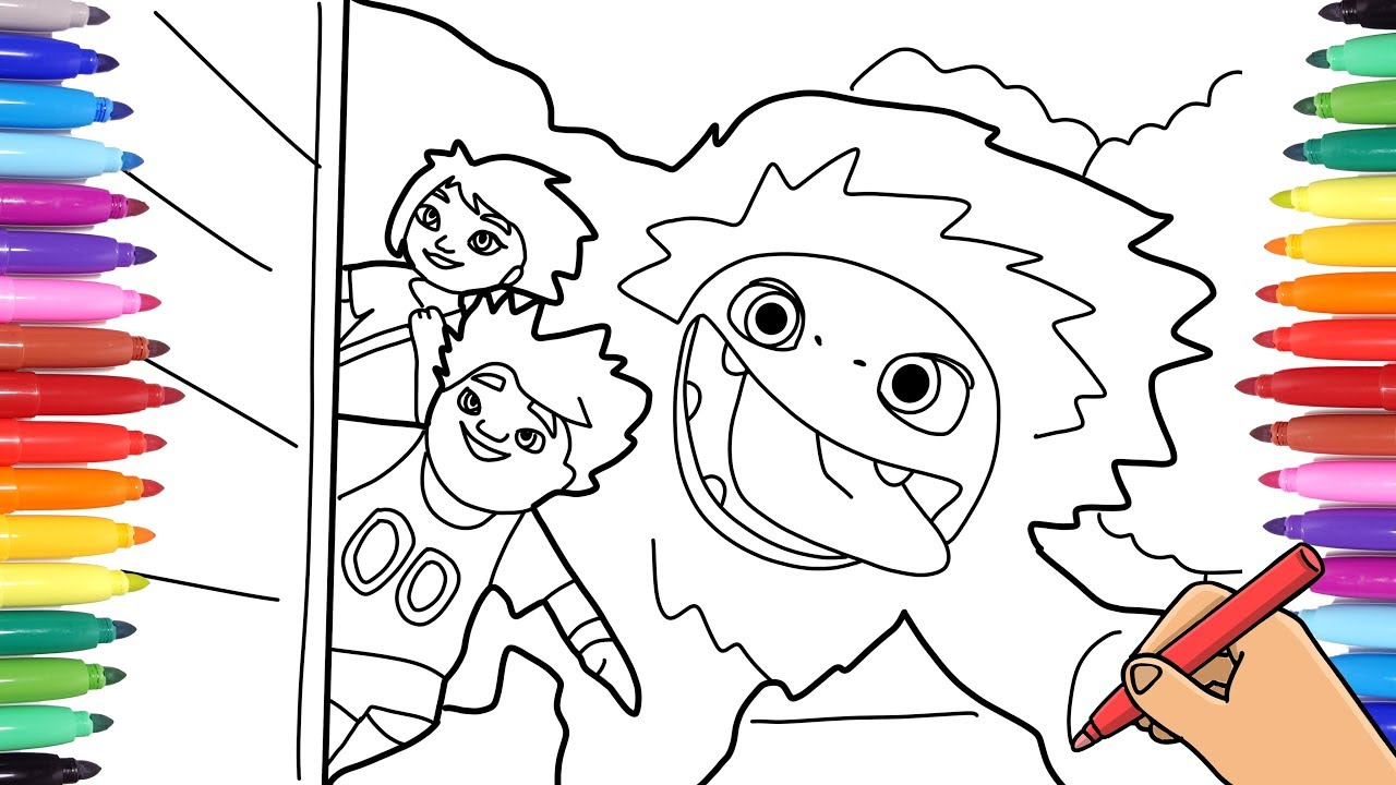 ABOMINABLE 15 COLORING PAGES FOR KIDS - EVEREST YETI YI AND JIN COLORING  AND DRAWING