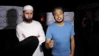 خالد ابو صلاح أثناء استقبال اهالي داريا  في قلعة المضيق 27/8/2106