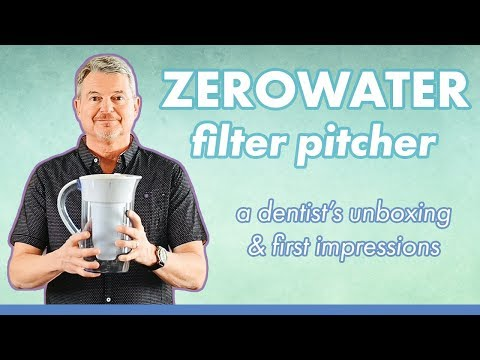 The ZeroWater Filter Pitcher: A Dentist Unboxing and First Impressions