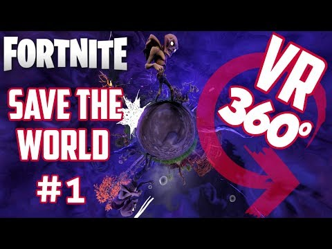 VR 360° Fortnite SAVE THE WORLD Gameplay | Episode #1 Tutorial Mission | + Cinematics