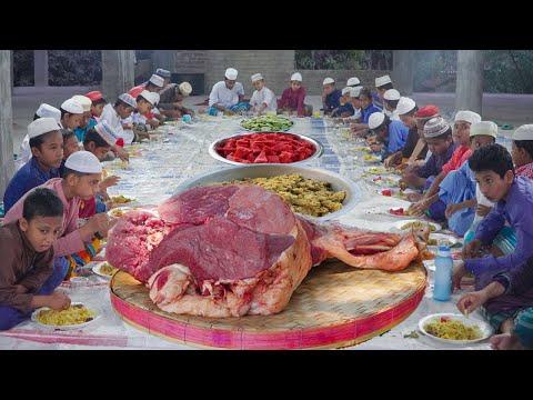 রমজানে গরুর গোশতের তেহারি সাথে হালকা ইফতার - এতিমখানার বাচ্চাদের জন্য মেহমানদারী - Beef Tehari