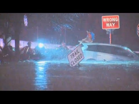 Massive Storm Causes Flooding Rains And Water Rescues In Dallas, Texas