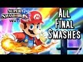 Super Smash Bros Wii U ALL FINAL SMASHES (HD)