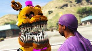 nightmare animatronics vs insane gang war gta 5 mods fnaf funny moments