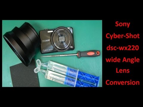 Sony Cyber Shot dsc wx220 wide Angle Lens Conversion