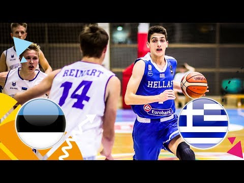 Estonia v Greece – Round of 16 – Full Game – FIBA U16 European Championship 2018