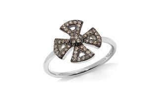 Rarities .25ct Champagne Diamond Maltese Cross Ring