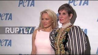 USA: Pamela Anderson and Mary Matalin host PETA inaugural ball