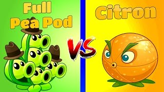 plants vs zombies 2 citron vs pea pod challenge pomelo vs vaina