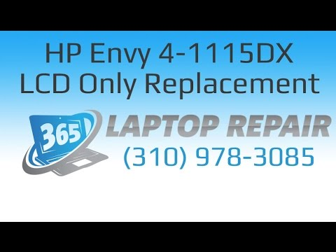 HP Envy Touch Smart 4-1115DX LCD only Screen Replacement How To - By 365