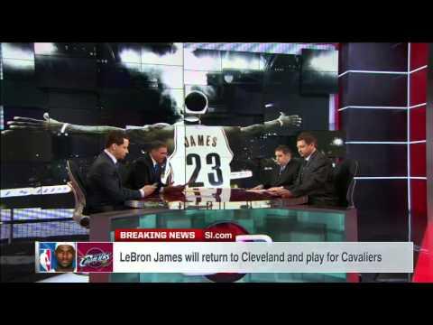 LeBron James Returns To Cleveland - SportsCenter (07-11-2014)