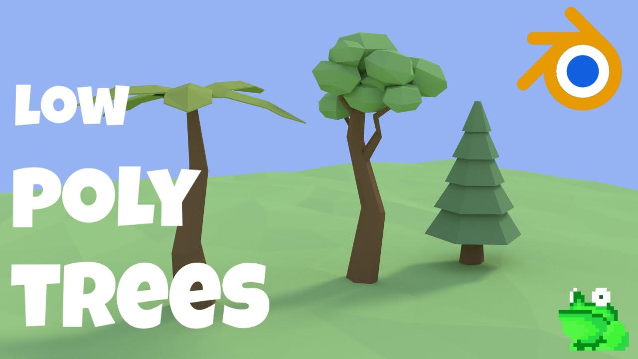 Blender tutorial low poly trees mr frog games youtube baditri Choice Image