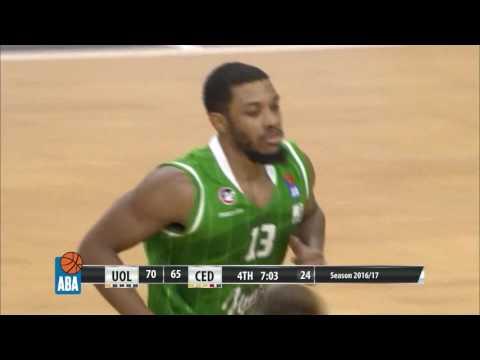 ABA Liga 2016/17 highlights, Round 25: Union Olimpija - Cedevita (5.3.2017)