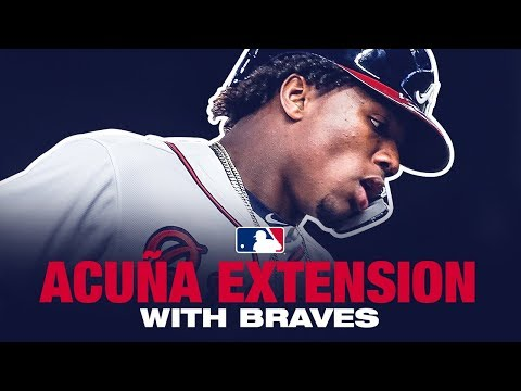 Ronald Acuna announces 8-year contract extension with Braves