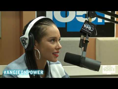 Alicia Keys Drops by The Angie Martinez Show 9-16-2014