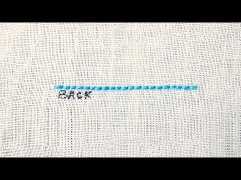How to Back Stitch