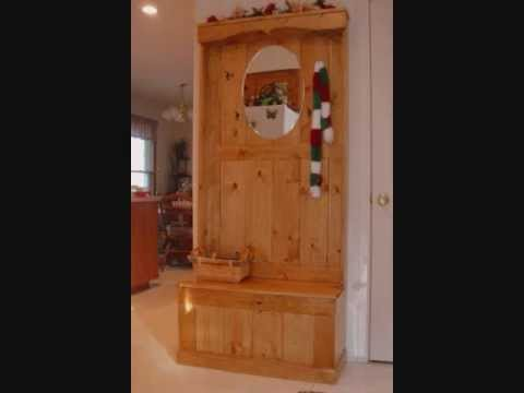 Hall Tree Woodworking Plans - YouTube