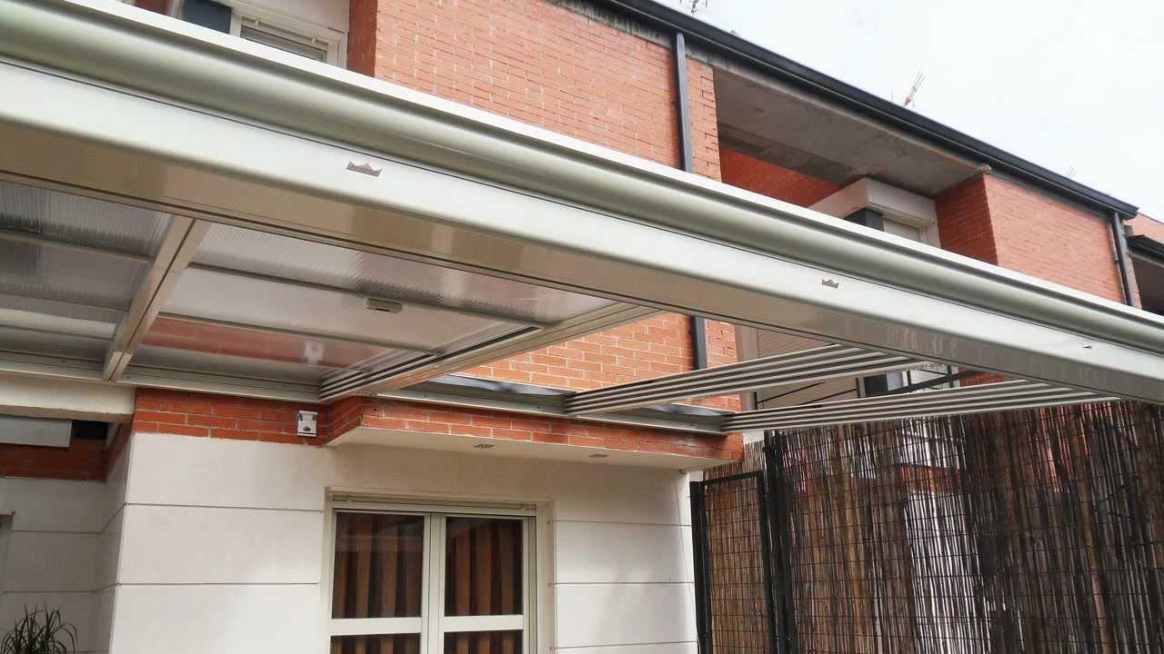 Instalacion de techo movil con cerramiento youtube for Techos de madera para patios