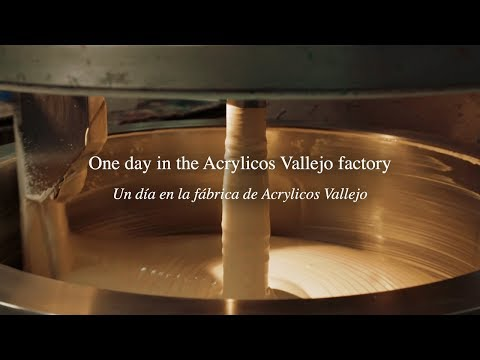 One day in the Acrylicos Vallejo factory