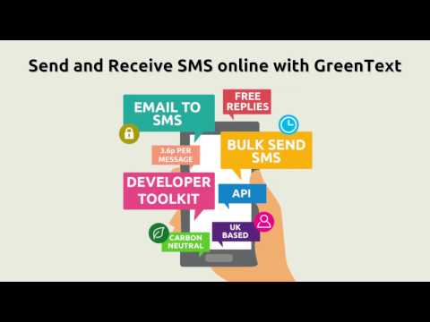 Send And Receive SMS Online With Green Text