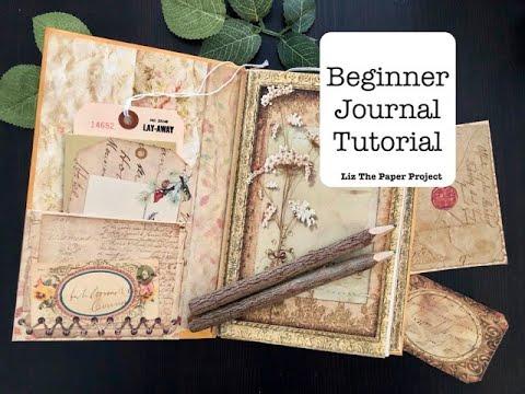 Beginner Junk Journal Tutorial - No Sewing - Easy DIY - Part 1 of 3