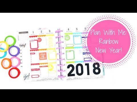 Plan With Me: Rainbow New Year