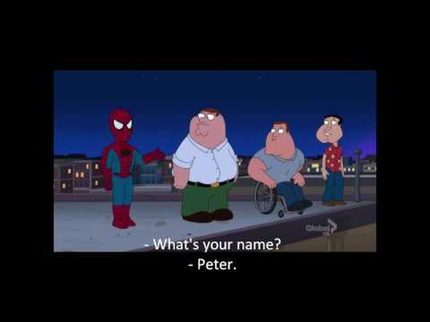 spidey in Family Guy