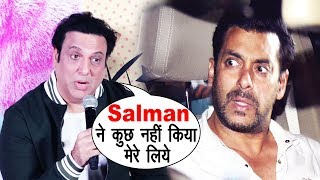 Govinda's Shocking COMMENT On Salman Khan At Fryday Movie Trailer Launch