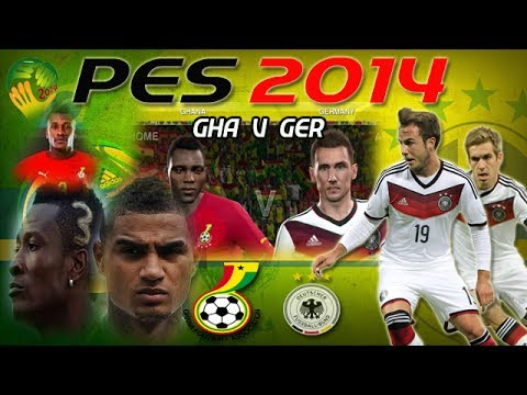 PES 2014: World Cup Simulation Ghana V Germany [Online match]