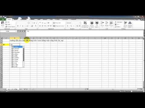 Hướng dẫn làm báo cáo bằng một công thức trong Excel