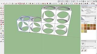 как в Sketchup создать сферу и булевые операции