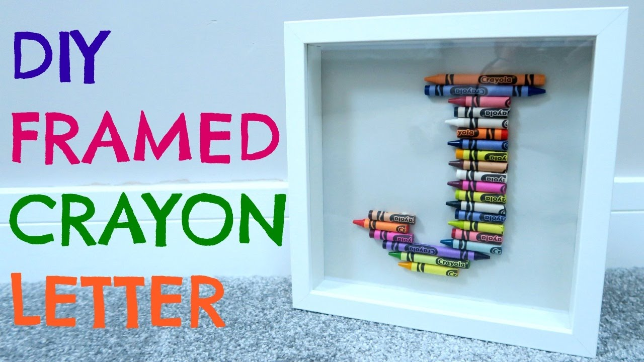Personalised Framed Crayon Letter