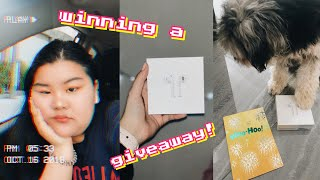 UNBOXING AIRPODS (MARLA CATHERINE AIRPODS GIVEAWAY WINNER)