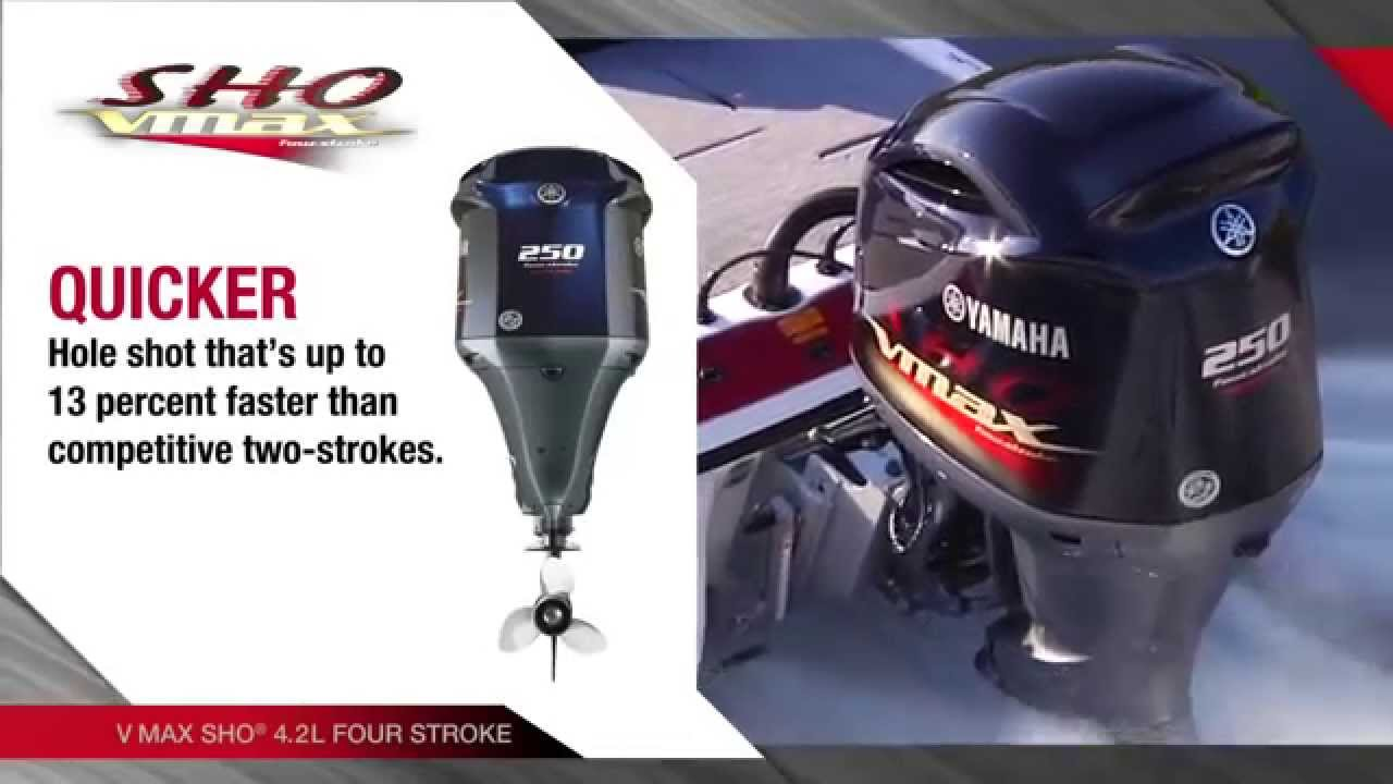2015 Yamaha 200hp, 225hp, & 250hp VMAX SHO Fourstroke Outboards