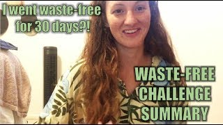 MY WASTE-FREE SUMMARY!