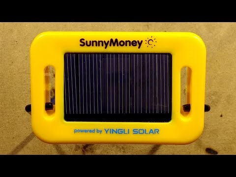 SM100 solar light for off-grid communities.