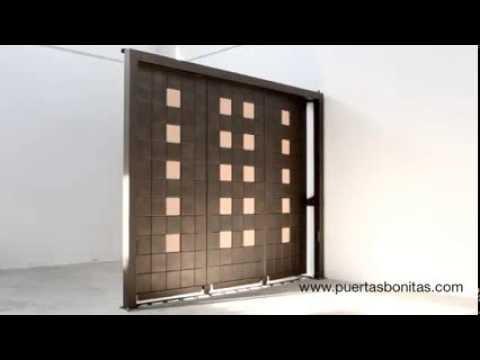 Puerta bonita corredera seccional de garaje youtube - Puertas para garage ...