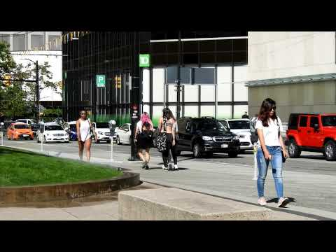 Walking In Vancouver Downtown Seymour St. CF Pacific Centre, Hornby St. 2018