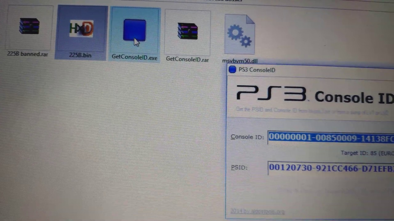 Extract console id from a ps3 dump file