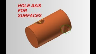 Mastercam tip: How to create hole axis of a cylinder surface