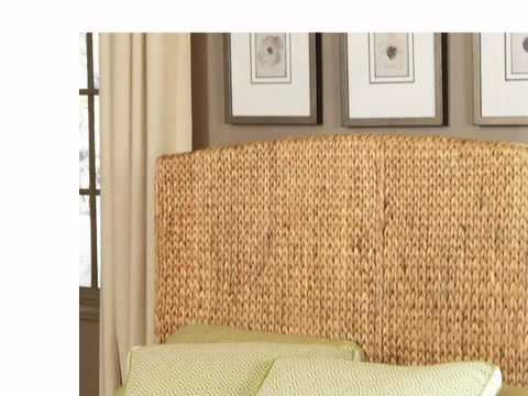 seagrass headboard  islander queen  wickerparadise, Headboard designs